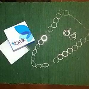 🎄 Beautiful Set of Sterling Necklace&Earrings